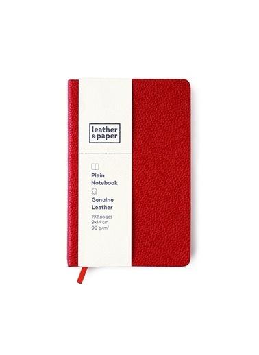 Leather & Paper Flotter Deri Defter 9x14 Kırmızı